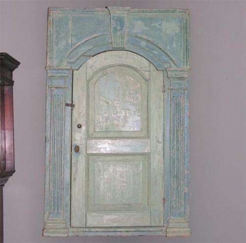 18th-c.-English-Blue-Painted-Corner-Cupboard-1