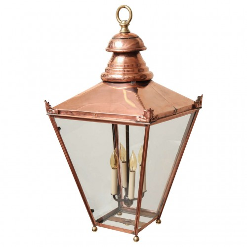 19th Century English Copper and Brass Lantern