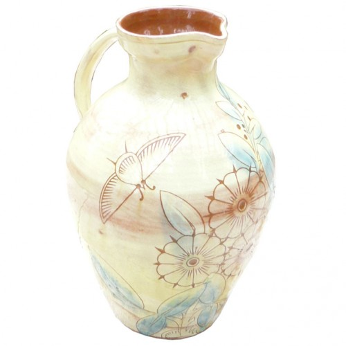 A 19th c. English Devonshire Art Pottery Glazed Pitcher