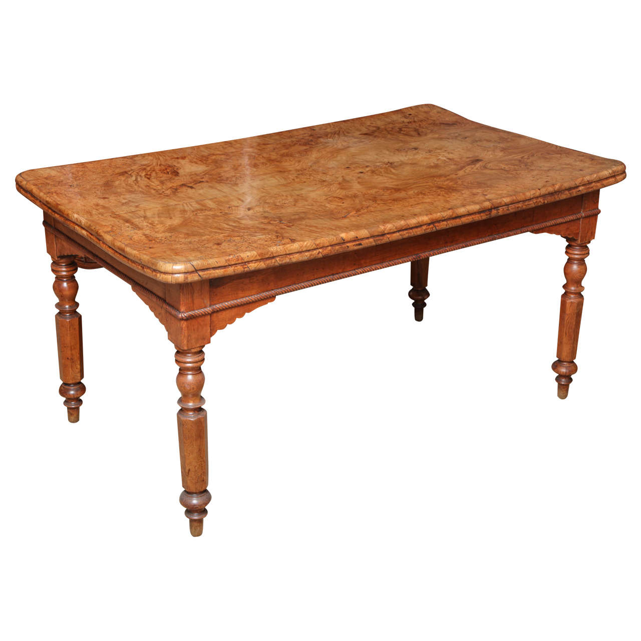 Burl Top Ash Farm Table
