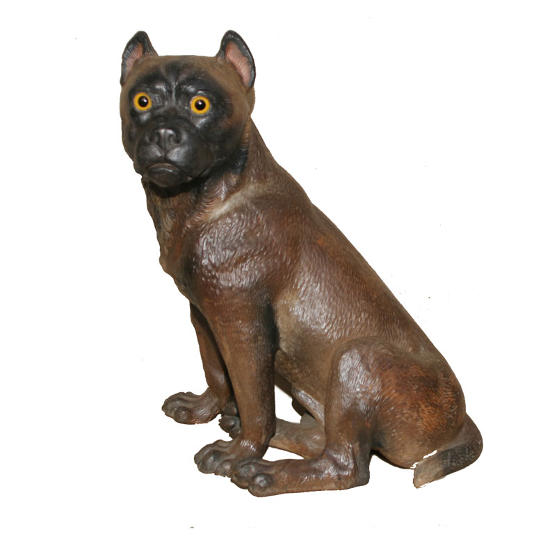 Charming 19th Century French Terra Cotta Boxer