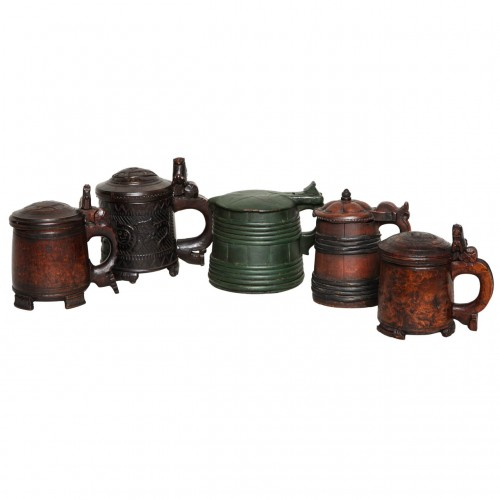 Collection of Norwegian Folk Art Tankards