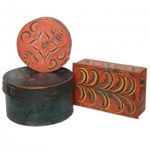 Collection of Three Norwegian Folk Art Boxes