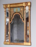Early-19th-Century-Neoclassical-Mirror-with-Queen-Anne-Plate-1