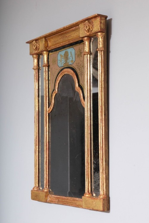 Early-19th-Century-Neoclassical-Mirror-with-Queen-Anne-Plate-5