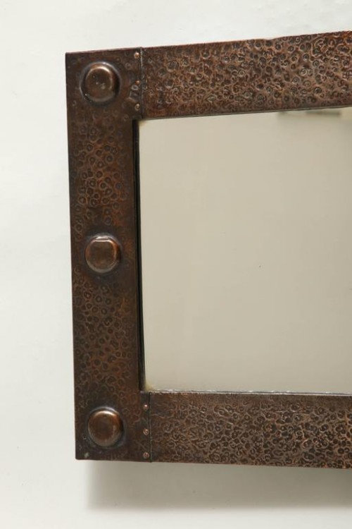 English-Arts-Crafts-Hammered-Copper-Mirror-2