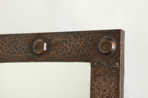 English-Arts-Crafts-Hammered-Copper-Mirror-4