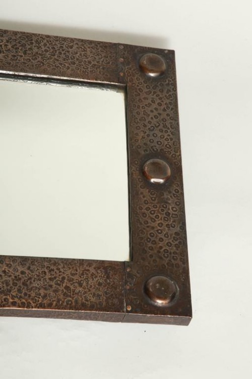 English-Arts-Crafts-Hammered-Copper-Mirror-7