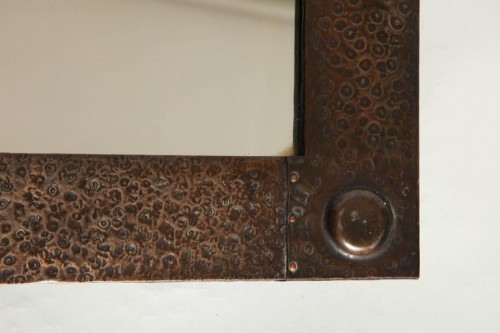 English-Arts-Crafts-Hammered-Copper-Mirror-8