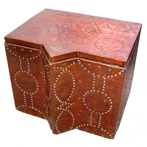 English Arts and Crafts Decorative Studded Copper Box