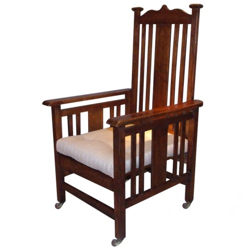 English Arts and Crafts Oak Armchair