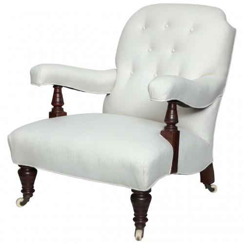 English Edwardian Open-Arm Club Chair