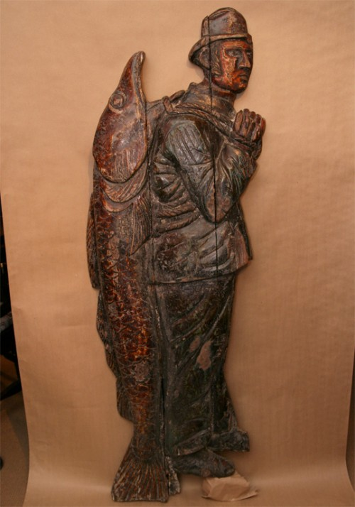 English-Folk-Art-Trade-Sign-with-Untouched-Historic-Surface-Sculpture-2