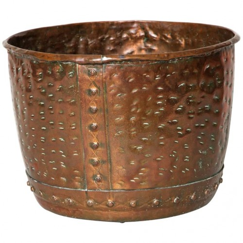 English Riveted Copper Pot