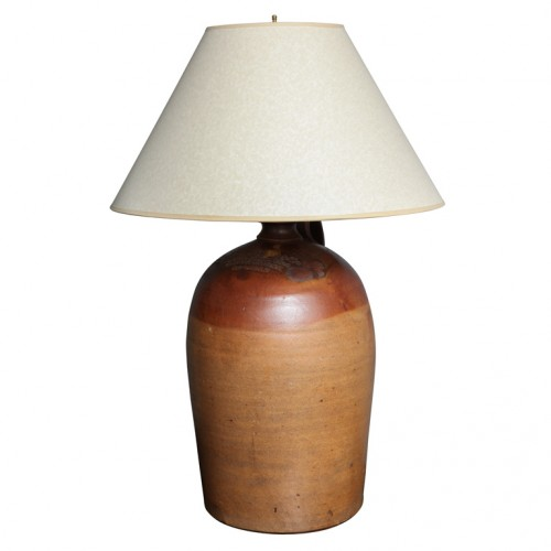 English Stoneware Molasses Barrel Lamp