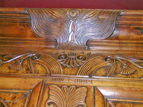 Exceptional-Burl-French-Armoire-dated-1845-4