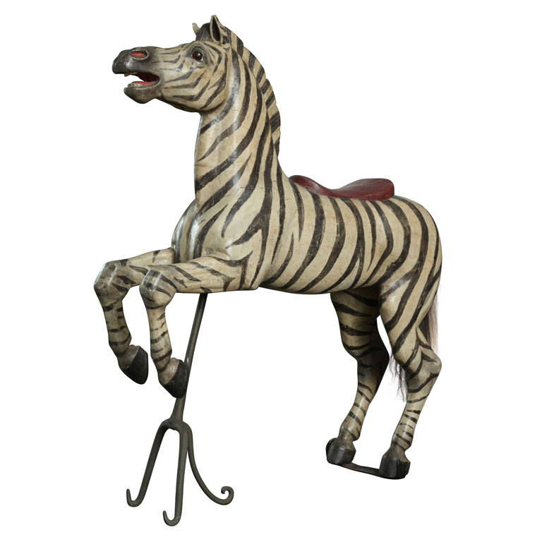 Exceptional Exotic Carousel Zebra by Karl Muller