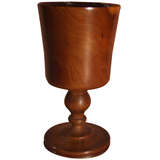 Finely Turned Yew Wood Goblet