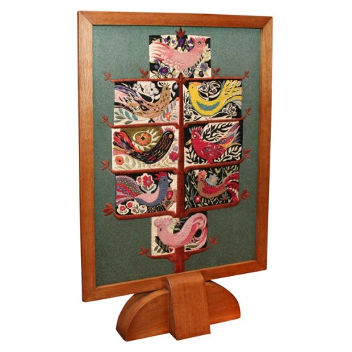 French Forties Bird-in-Tree Designer-Made Firescreen