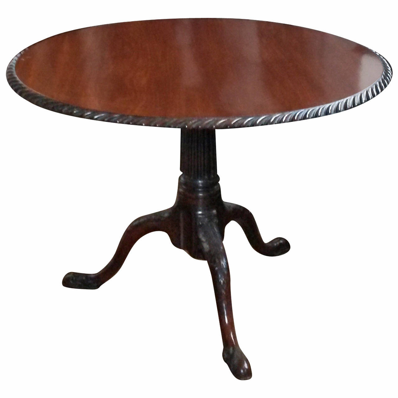 George II Mahogany Tilt-Top Table
