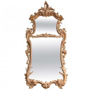 George II Rococo Giltwood Two-Plate Mirror