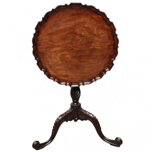 George III Piecrust Birdcage Tilt-Top Table