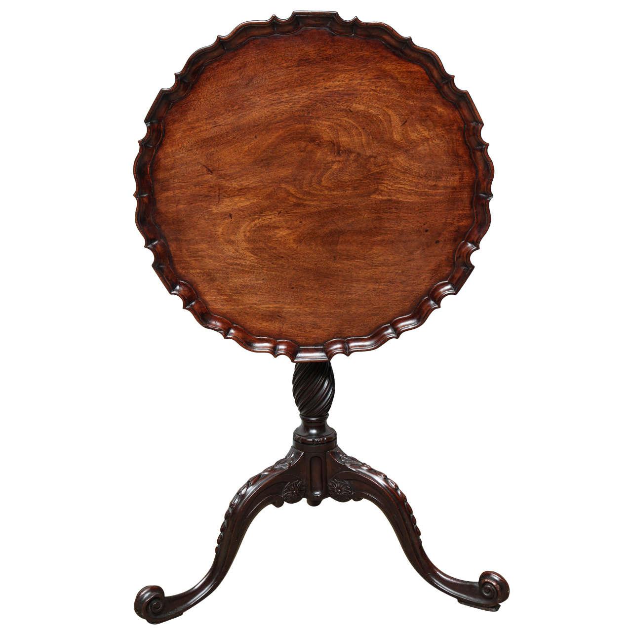 George III Piecrust Birdcage Tilt-Top Table