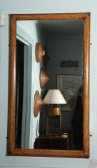 Grain-Painted-Simulated-Burl-Maple-Framed-Mirror-1