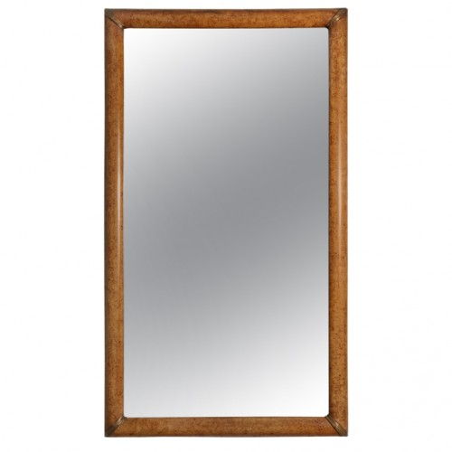 Grain Painted Simulated Burl Maple Framed Mirror