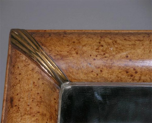 Grain-Painted-Simulated-Burl-Maple-Framed-Mirror-6