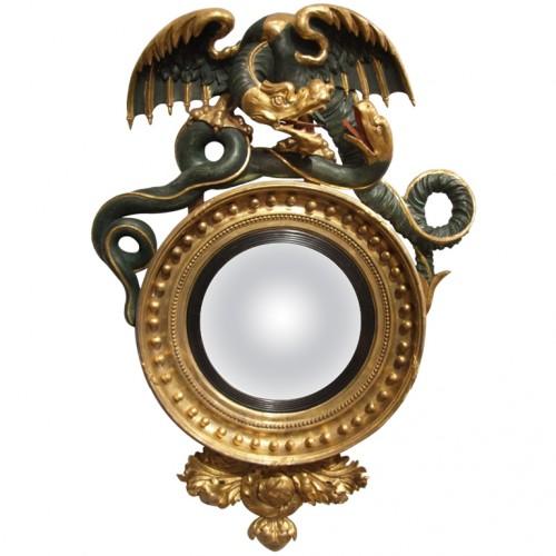 High Style Regency Convex Mirror