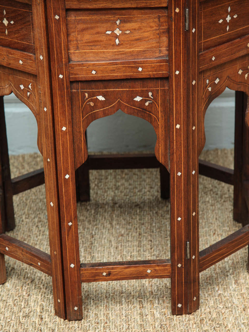 ... Indian Bone Inlaid Circular Folding Table 3 ...