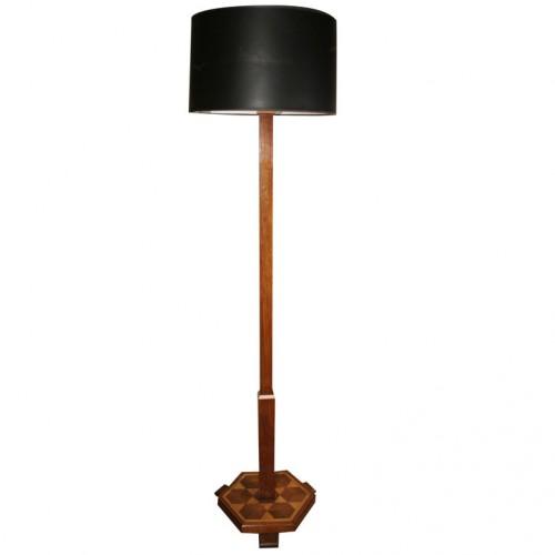 Indian Inspired Inlaid Art Deco Floor Lamp