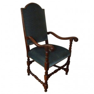 Italian Baroque Walnut Armchair