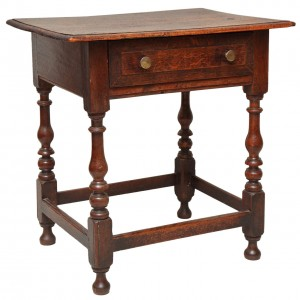 Late 17th Century English Oak and Ash Side Table