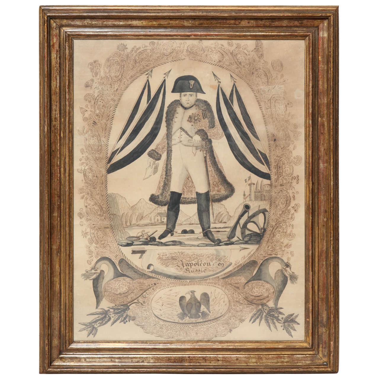 Napoleonic Folk Art Calligraphy Drawing