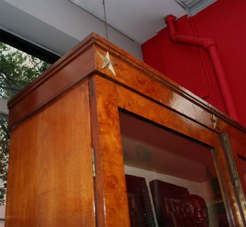 Neoclassical-Burlwood-Bookcase-Cabinet-2