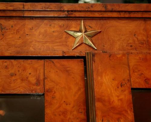 Neoclassical-Burlwood-Bookcase-Cabinet-3
