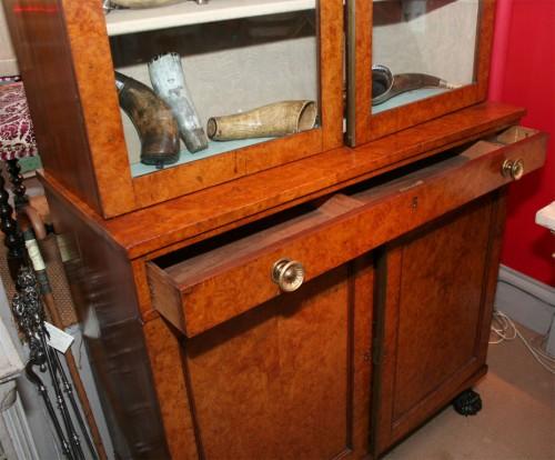 Neoclassical-Burlwood-Bookcase-Cabinet-7