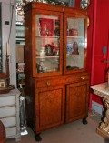 Neoclassical-Burlwood-Bookcase-Cabinet-9