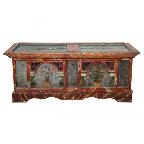 Norwegian Folk Art Marriage Coffer