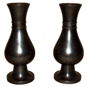 Pair of 19th Century Bronze Urns by Jones & Willis