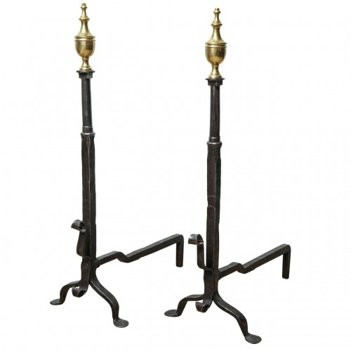 Pair of American Classical Andirons