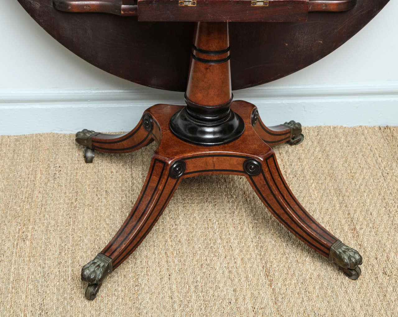... Regency Burr Oak Breakfast Table 9