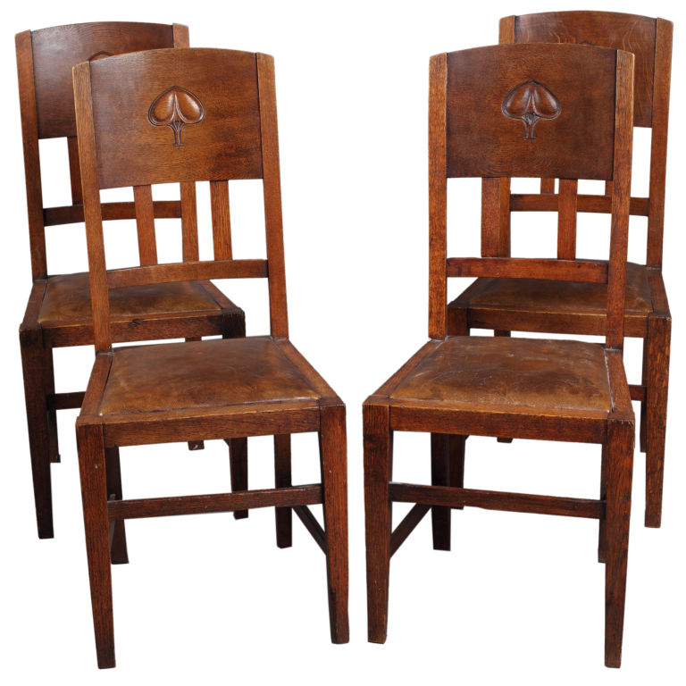 Set Of Four English Arts And Crafts Chairs Yew Tree House