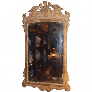 Superb George I Giltwood and Gesso Carved Mirror