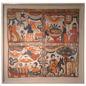 Swedish Folk Art Painting