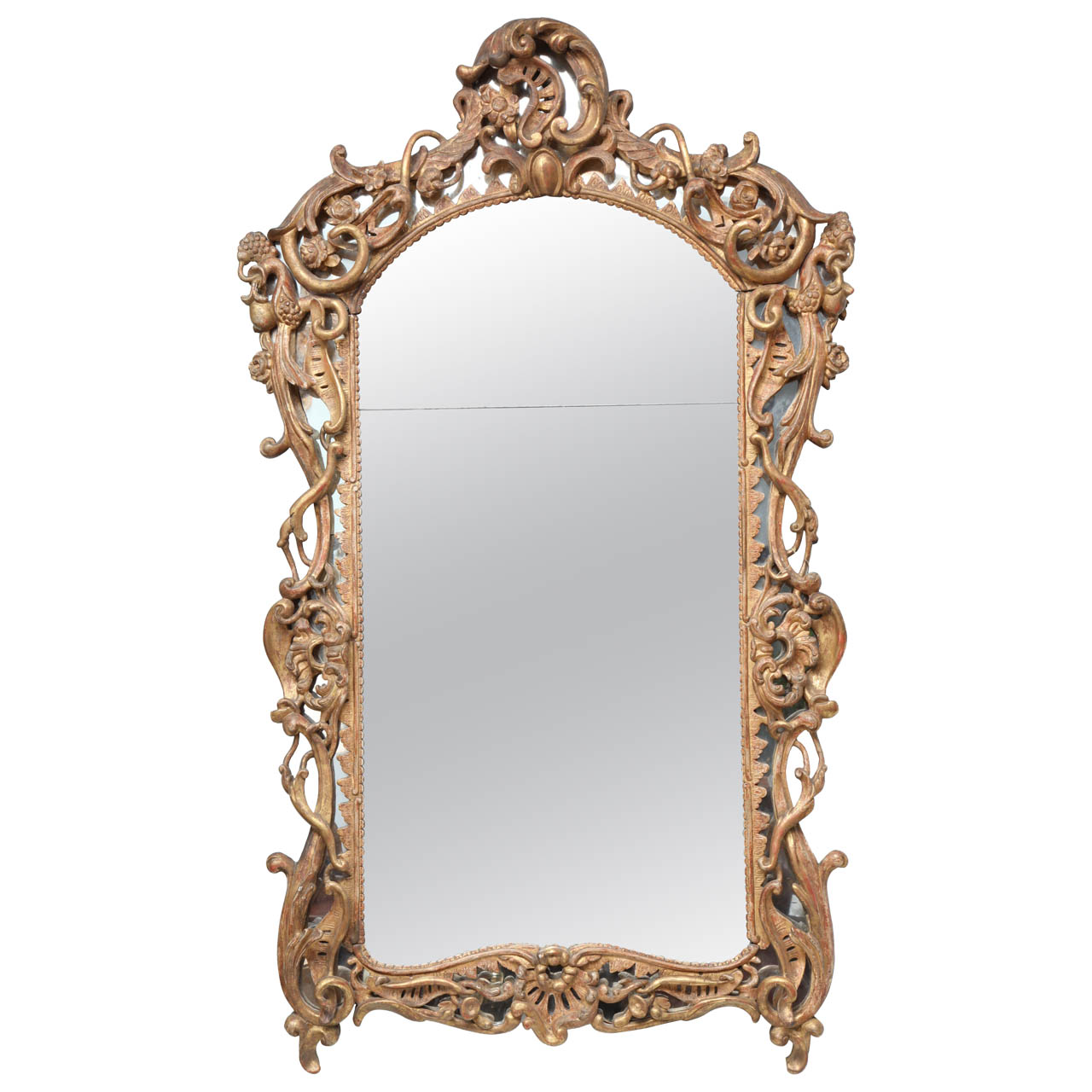 Very Fine Louis XV Period Gilt Wood Mirror