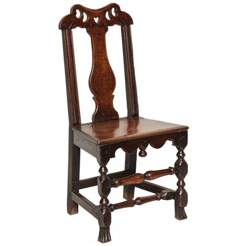 Welsh Queen Anne Folk Art Side Chair