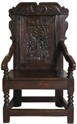 Early English Oak Wainscot Chair
